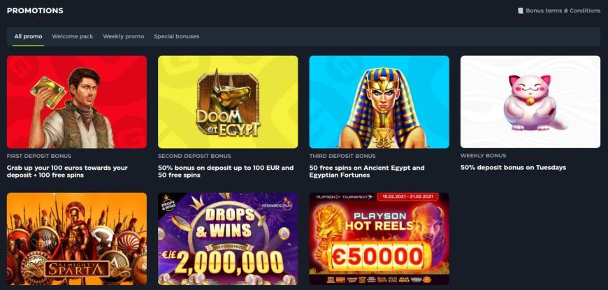 GSlot Casino bonusser