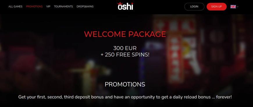 Oshi Casino bonusser