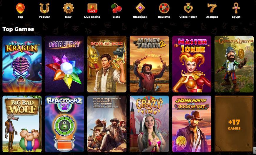 AmunRa Casino spellere