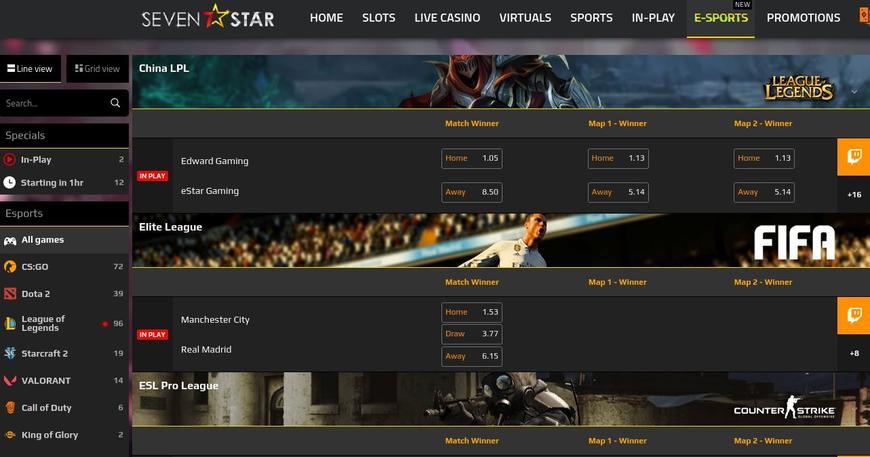 7Star Casino E-Sport