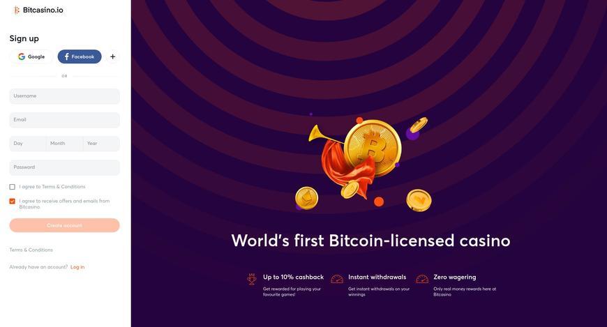 Sådan opretter du dig hos Bitcasino.io